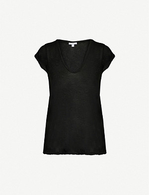 JAMES PERSE V-neck loose-fit cotton-jersey T-shirt