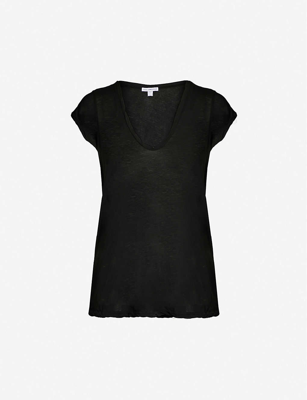 JAMES PERSE: V-neck loose-fit cotton-jersey T-shirt