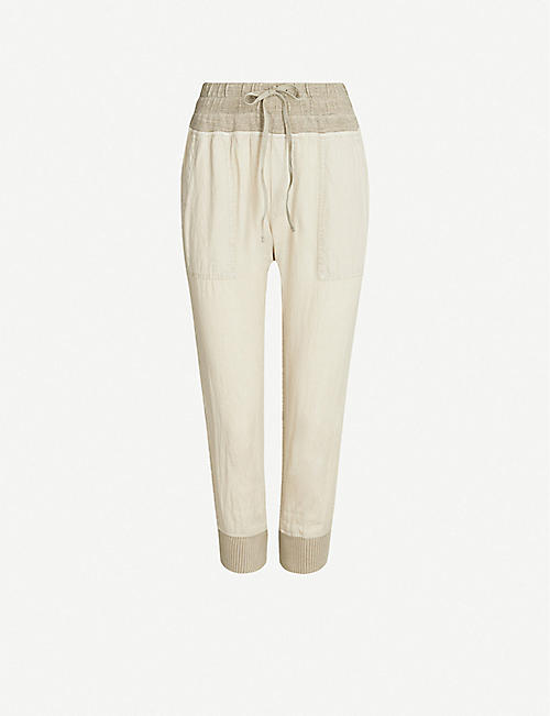 JAMES PERSE Relaxed-fit linen and cotton-blend jogging bottoms