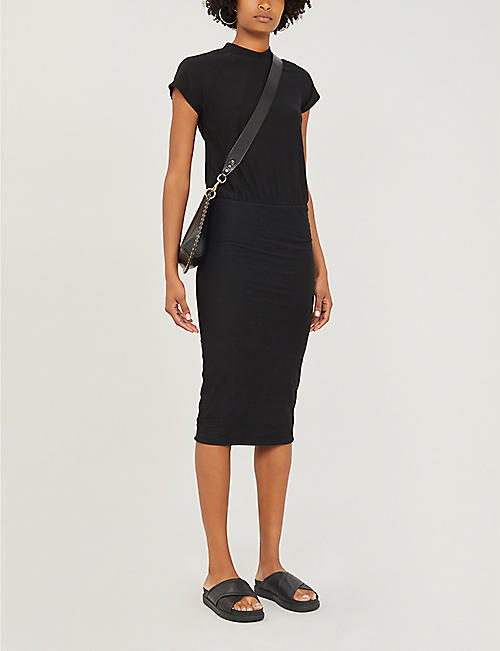 JAMES PERSE Elasticated-waist stretch-cotton dress