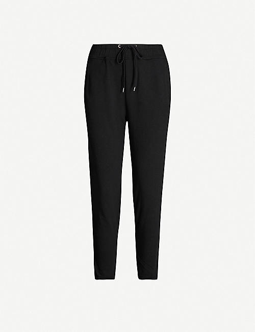 JAMES PERSE Cropped cotton-jersey jogging bottoms