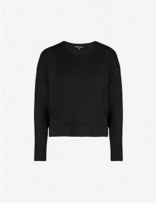 JAMES PERSE: Cropped boxy-fit cotton-jersey sweatshirt