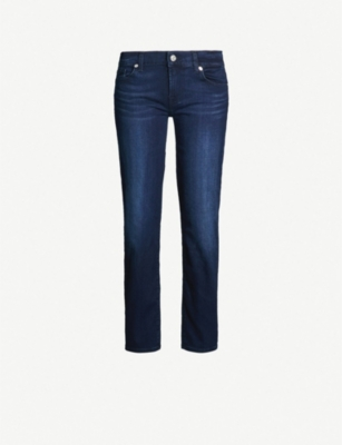 7 FOR ALL MANKIND Roxanne Crop skinny mid-rise jeans