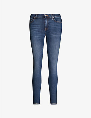 7 FOR ALL MANKIND: The Skinny Crop skinny mid-rise jeans