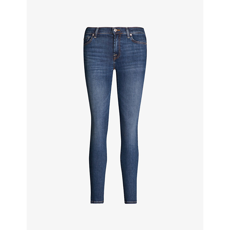 7 FOR ALL MANKIND | The Skinny Crop Skinny Mid-Rise Jeans | Goxip