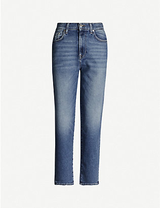 7 FOR ALL MANKIND: Malia Luxe straight stretch-denim jeans
