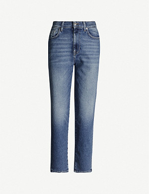 7 FOR ALL MANKIND Malia Luxe straight stretch-denim jeans