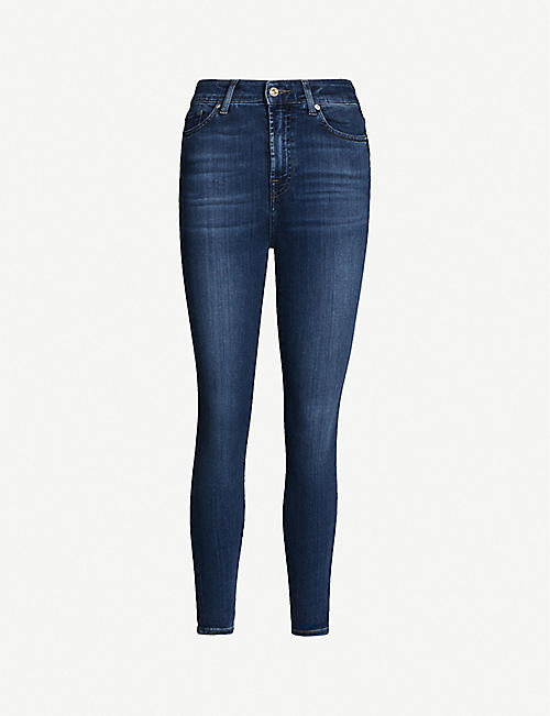 7 FOR ALL MANKIND: Aubrey Slim Illusion skinny high-rise jeans