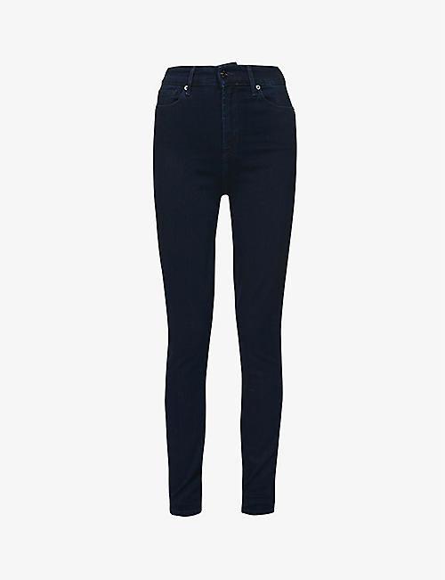 7 FOR ALL MANKIND: Aubrey skinny high-rise stretch-denim jeans