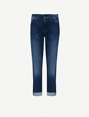 7 FOR ALL MANKIND Slim Illusion mid-rise straight jeans
