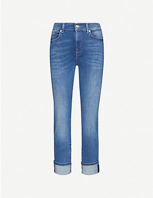 7 FOR ALL MANKIND: Relaxed Skinny mid-rise stretch-denim girlfriend jeans