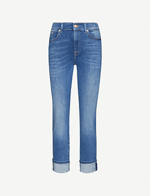 7 FOR ALL MANKIND Relaxed Skinny mid-rise stretch-denim girlfriend jeans