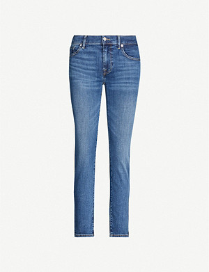 7 FOR ALL MANKIND Roxanne cropped slim-fit tapered high-rise jeans