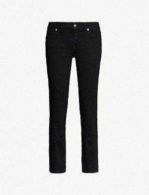 7 FOR ALL MANKIND Roxanne Crop slim-fit mid-rise jeans