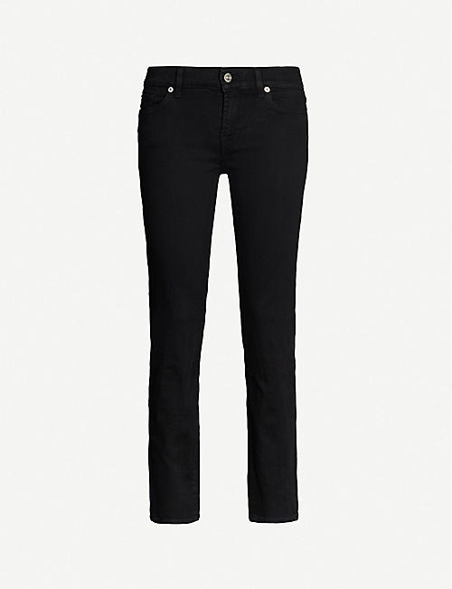 7 FOR ALL MANKIND: Roxanne Crop slim-fit mid-rise jeans