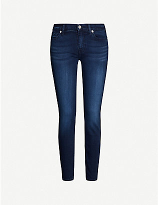 7 FOR ALL MANKIND: Skinny Crop super-skinny mid-rise jeans