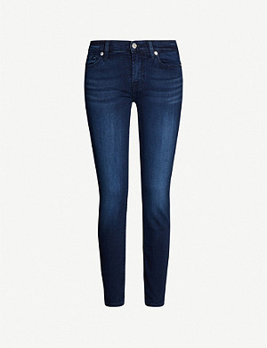7 FOR ALL MANKIND Skinny Crop super-skinny mid-rise jeans
