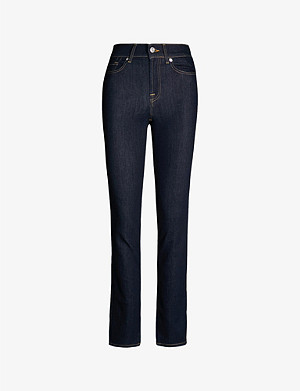 7 FOR ALL MANKIND The Straight slim-leg mid-rise jeans