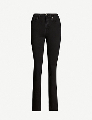 7 FOR ALL MANKIND B(air) straight skinny mid-rise jeans