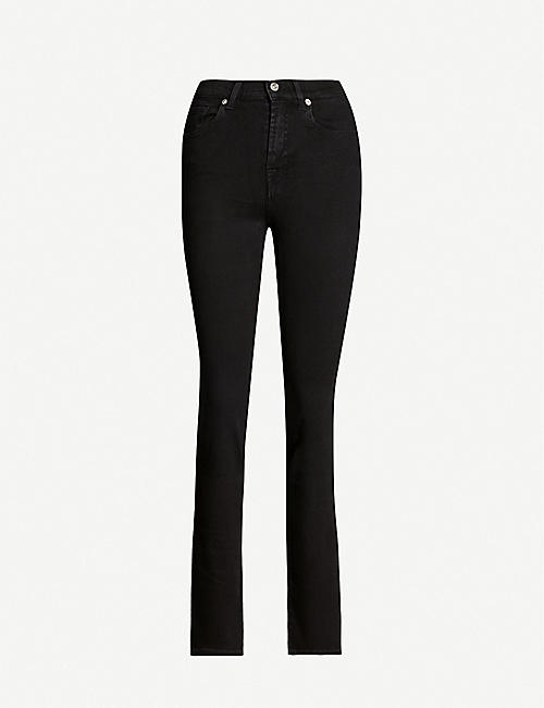 7 FOR ALL MANKIND: The Straight Bair high-rise stretch-denim jeans