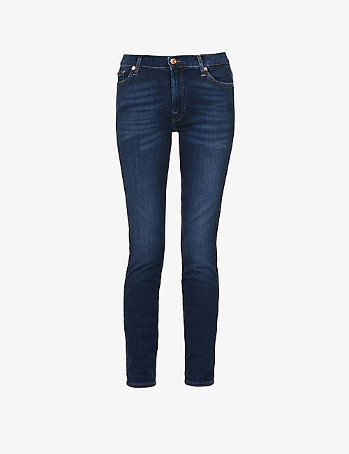 7 FOR ALL MANKIND: Slim Illusion high-rise skinny jeans