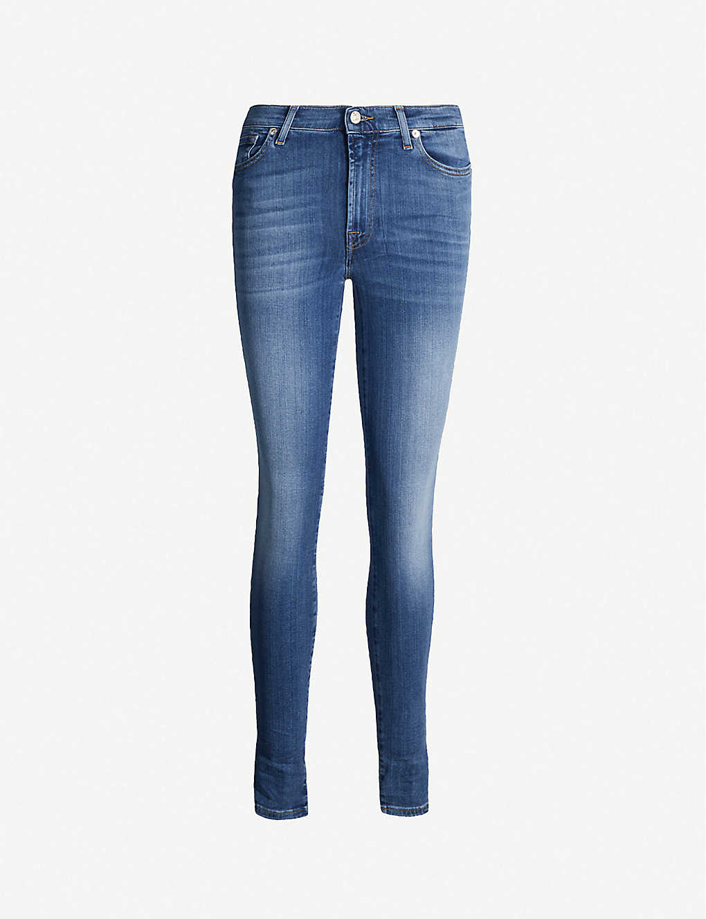 7 FOR ALL MANKIND: Skinny Slim Illusion high-rise jeans