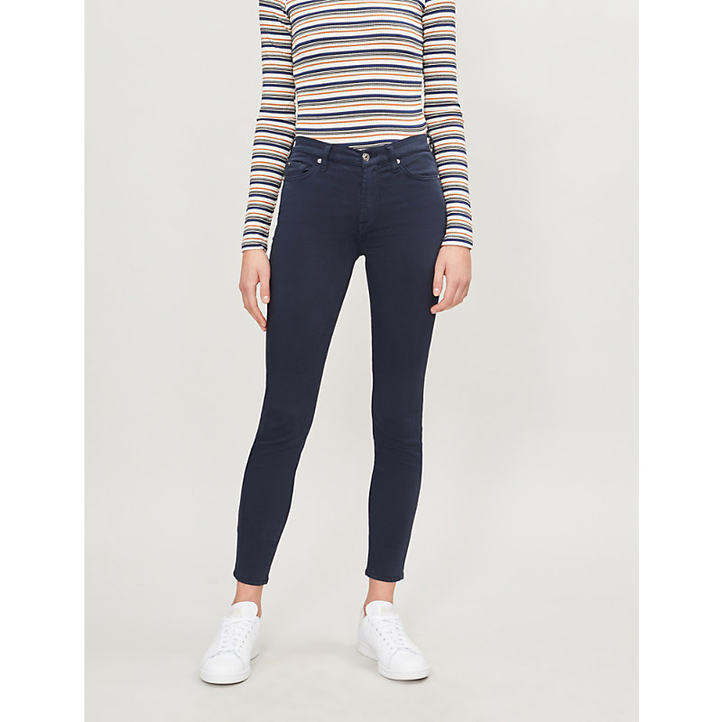 7 FOR ALL MANKIND | The Skinny Crop Skinny High-Rise Jeans | Goxip