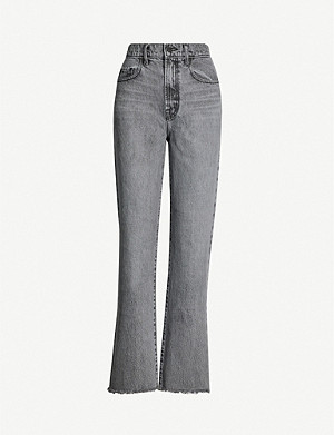 NOBODY DENIM Arlo straight high-rise jeans