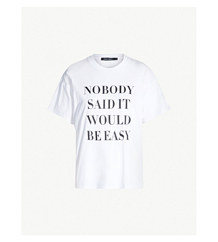 Nobody Denim NOBODY EASY PRINTED COTTON-JERSEY T-SHIRT