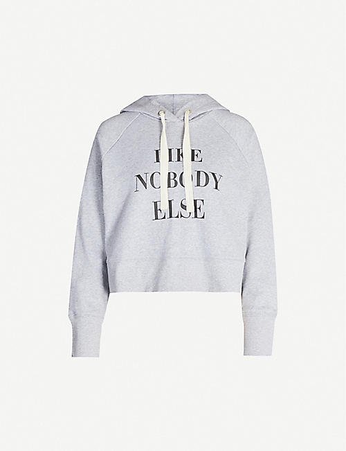 NOBODY DENIM Nobody Cares slogan-print cotton-jersey hoody