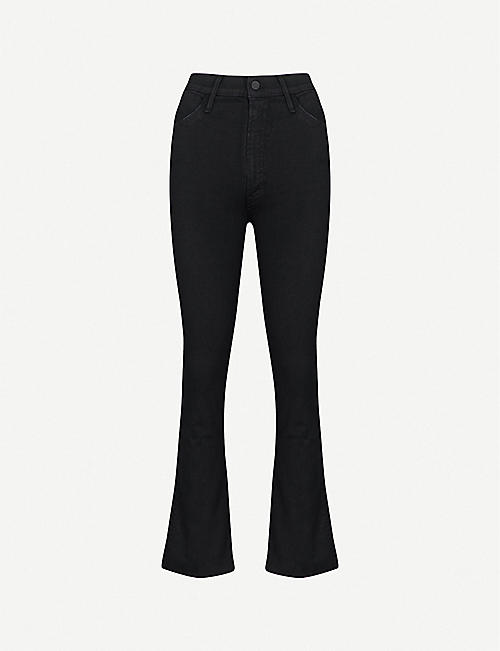 MOTHER: Hustler Ankle Fray flared high-rise jeans