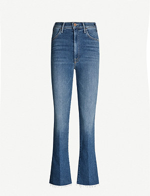 MOTHER The Hustler cropped flared high-rise jeans