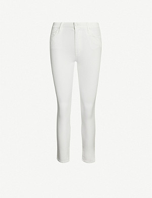 MOTHER Looker cropped skinny high-rise jeans