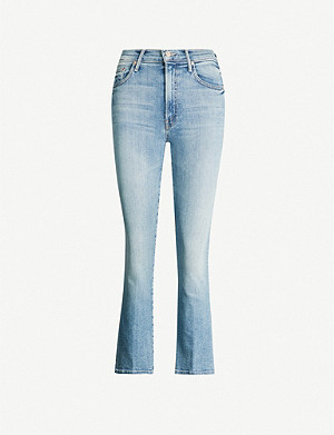 MOTHER The Insider cropped slim-fit high-rise jeans
