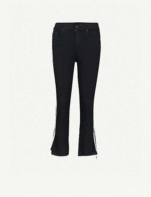 MOTHER: The Insider Crop Step slim-fit skinny high-rise jeans