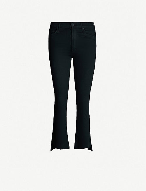 MOTHER The Insider Crop Step slim-fit skinny high-rise jeans