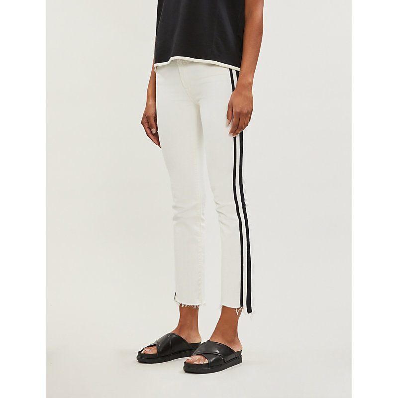 MOTHER | Insider Cropped Straight High-Rise Jeans | Goxip