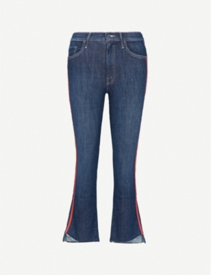 MOTHER The Insider Crop Step slim-fit high-rise jeans