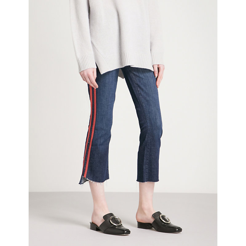 MOTHER | The Insider Crop Step Slim-Fit High-Rise Jeans | Goxip