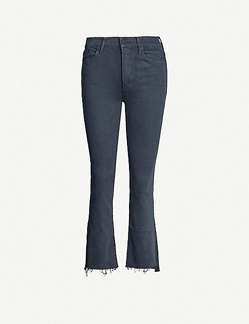 MOTHER The Insider Crop Step high-rise jeans