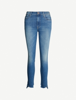 MOTHER The Stunner mid-rise faded skinny jeans