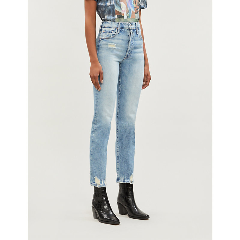 MOTHER | Tomcat Slim-Fit Straight High-Rise Jeans | Goxip