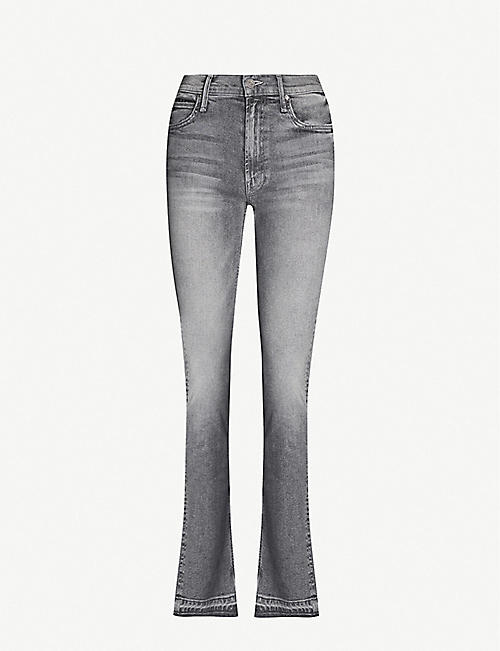 MOTHER The Rascal slim-fit straight high-rise jeans