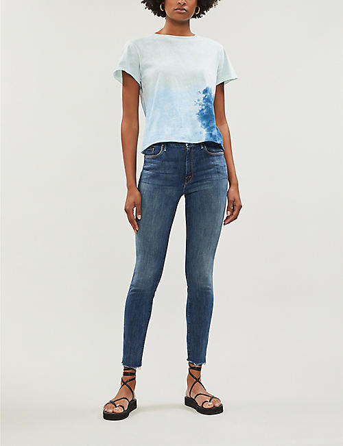 MOTHER The Looker high-rise ankle fray skinny jeans