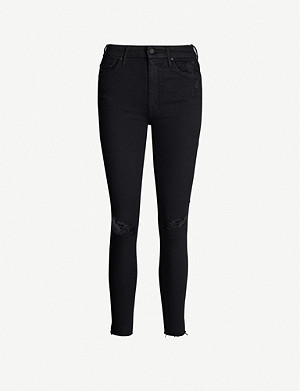 MOTHER The Looker cropped skinny high-rise jeans