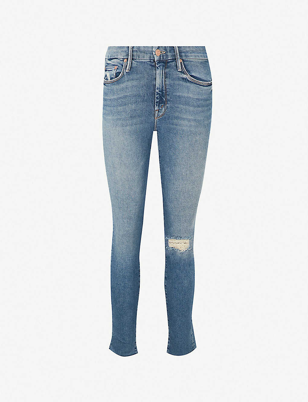 f938e57ca6b6 MOTHER - The Looker ankle fray skinny mid-rise jeans   Selfridges.com