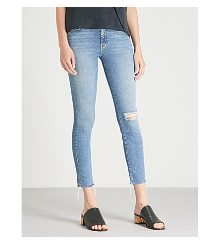The Looker Ankle Fray Skinny Mid-Rise Jeans, Love Gun