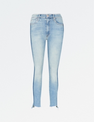 MOTHER The Stunner Zip Ankle Step skinny cropped mid-rise jeans