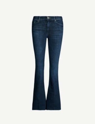 MOTHER The Weekender Fray slim-fit flared jeans