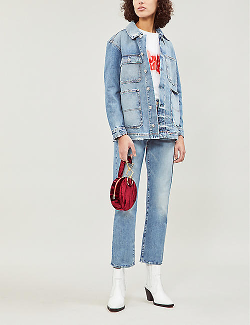 MOTHER The Tomcat mid-rise faded straight-leg jeans